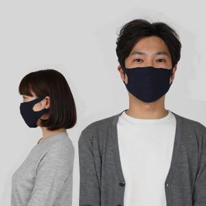 マスク着用.紺