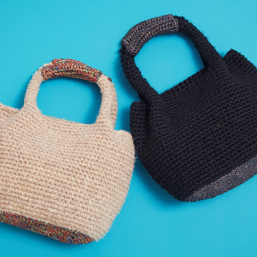 手編みプロジェクト第2弾/ミニかごバッグの写真