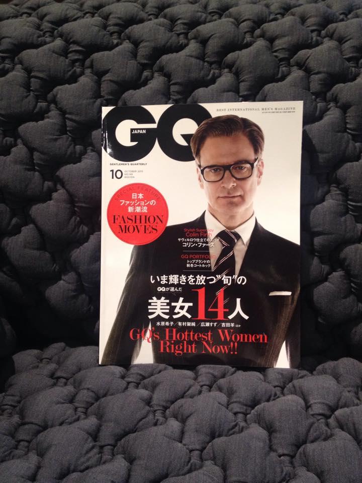 GQ 10月号の写真