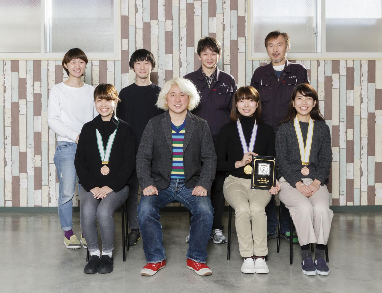 第53回技能五輪全国大会で金賞、銅賞、敢闘賞受賞の写真
